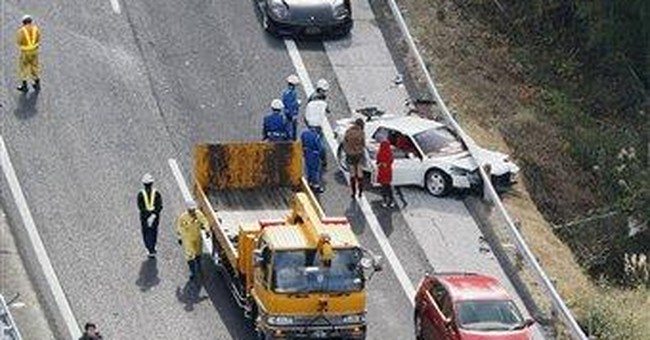 Fleet of Ferraris ruined in Japan sportscar pileup