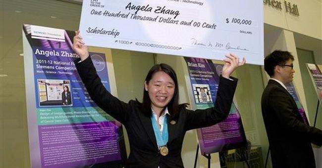 Calif. teen takes $100K national science prize