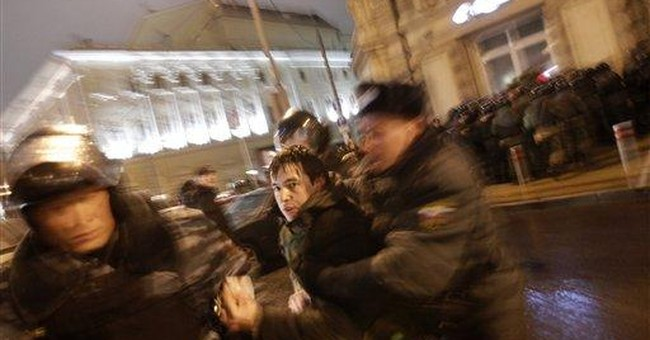 Protesters accuse Putin's party of rigging vote