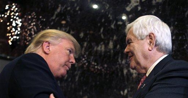 For GOP's Gingrich: Big declarations _ and hurdles