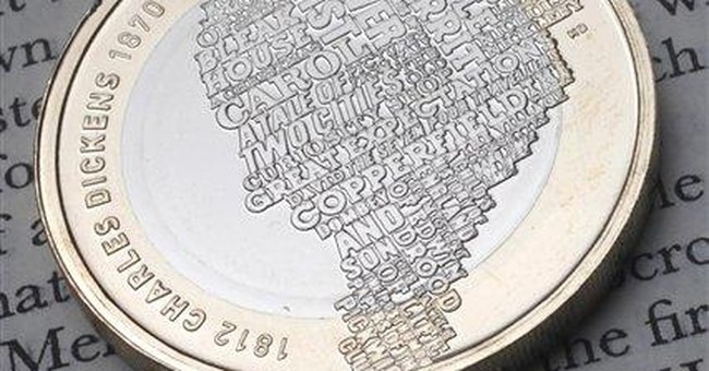 New Charles Dickens coin honors author