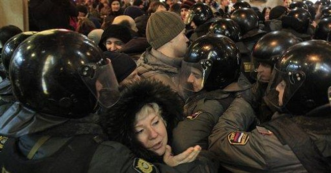 Anti-vote fraud protests in Russia for 3rd night