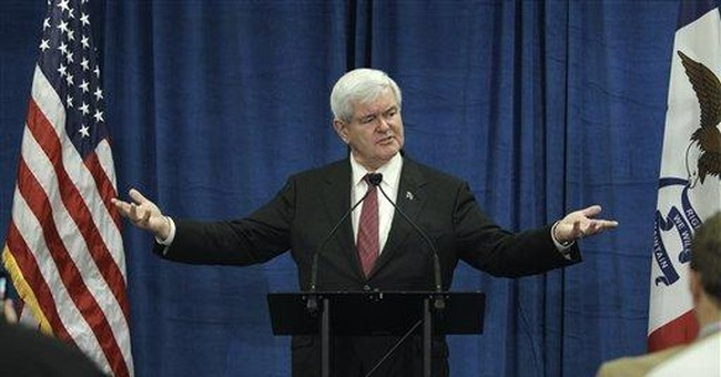 GOP's Newt Gingrich relishes role of antagonist