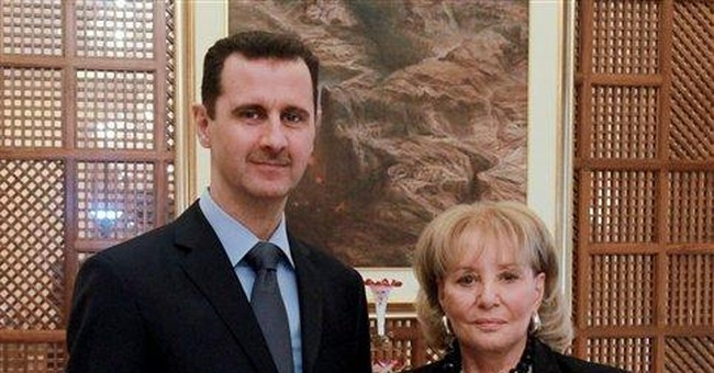 Walters said Syrian trip frightened her