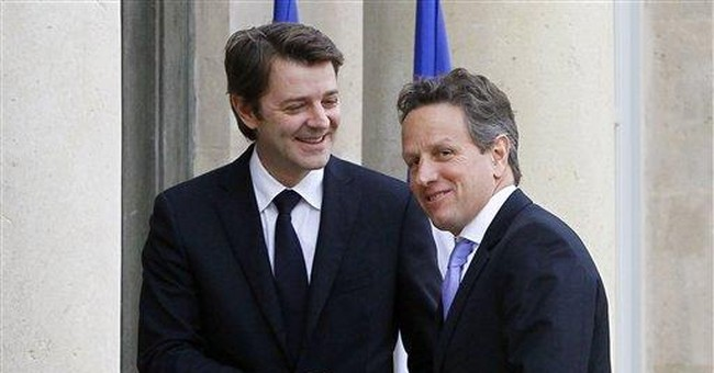On Geithner's trip, grand offices and grand operas