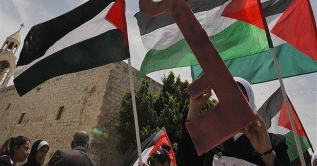 Palestinians' statehood bid part of Christmas