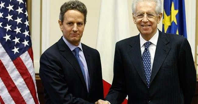 For Geithner, a blur of hotels and motorcades