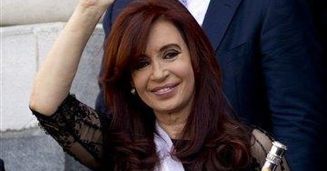 Argentina's Cristina Fernandez sworn in 2nd time