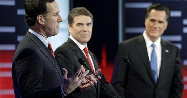 Santorum likens Gingrich and Romney to Obama