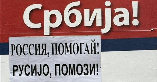 Putin a hero of Kosovo Serb defiance