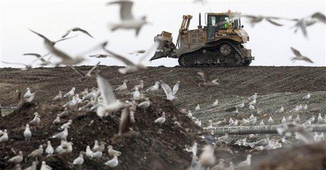 RI town sues state's main landfill over stench