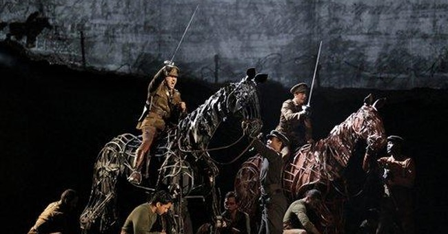 'War Horse' author makes quiet appearance in play