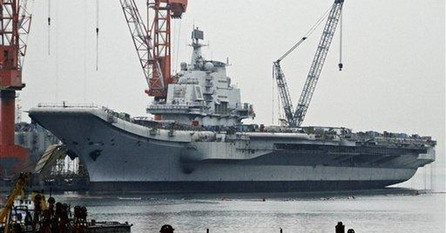 APNewsBreak: Satellite gets pic of Chinese carrier