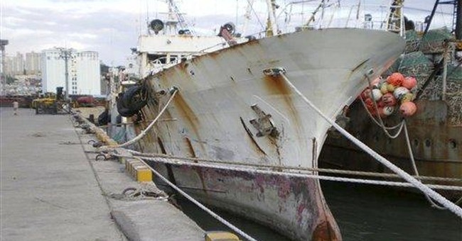 Russian fishing ship lists badly near Antarctica