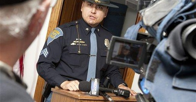 Marshal's shooting, 3-hour manhunt shake Ind. town