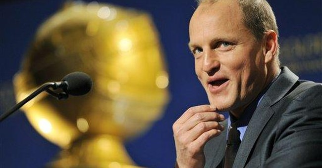 Harrelson plugs new film during Globe nominations