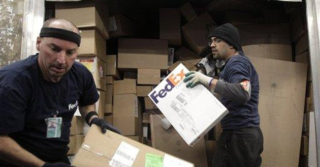 FedEx 2Q soars on strong online holiday sales