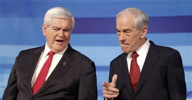 Gingrich defends conservative record at GOP debate
