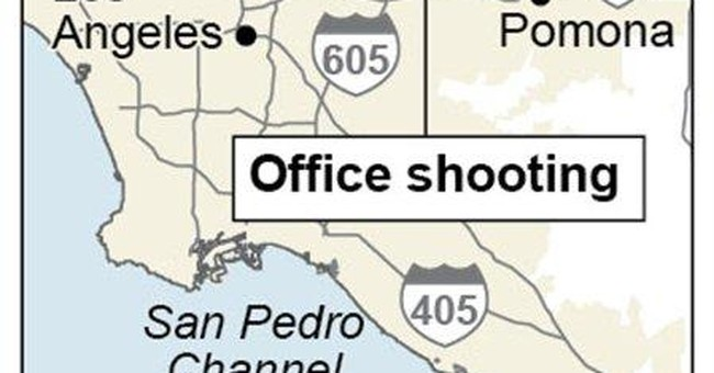 Victim of LA office shooting remains in hospital