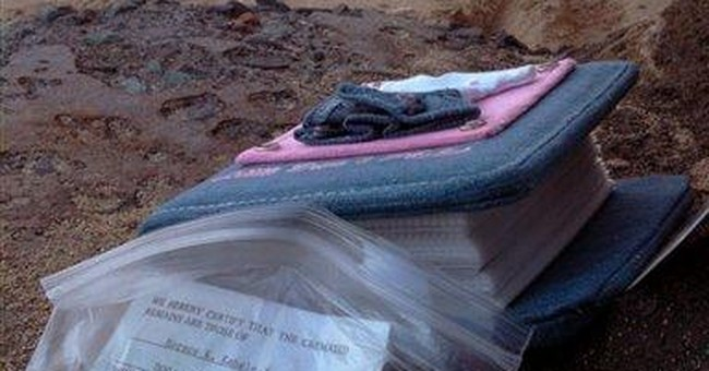 Stolen ashes of baby found on Oahu beach