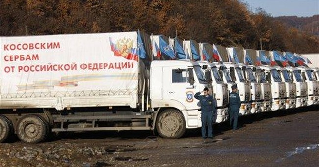 Russian aid convoy crosses into Kosovo