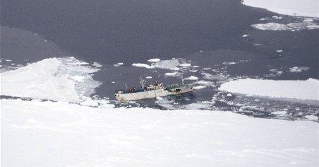 Crew stabilizes leaky Russian ship near Antarctica