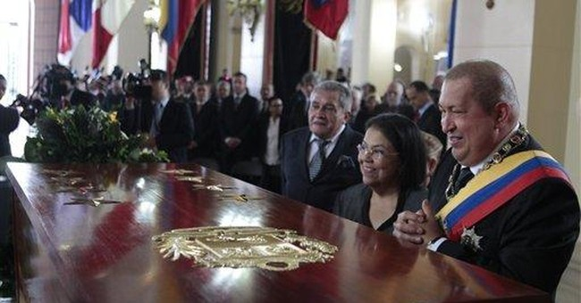 Venezuela honors Simon Bolivar with new coffin