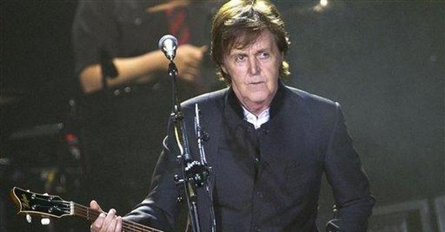 Paul McCartney releasing an album of standards