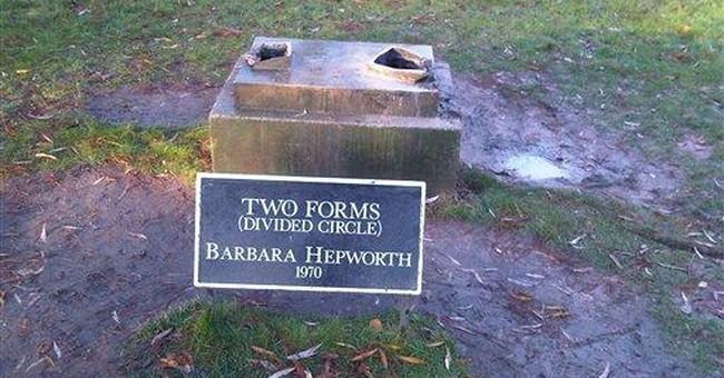 Valuable Hepworth sculpture stolen from UK park