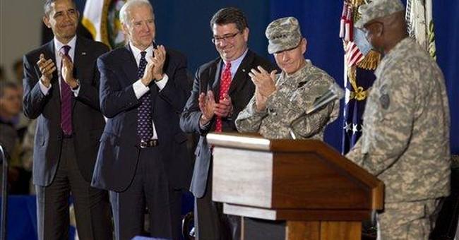 Obama, Biden welcome home US commander in Iraq