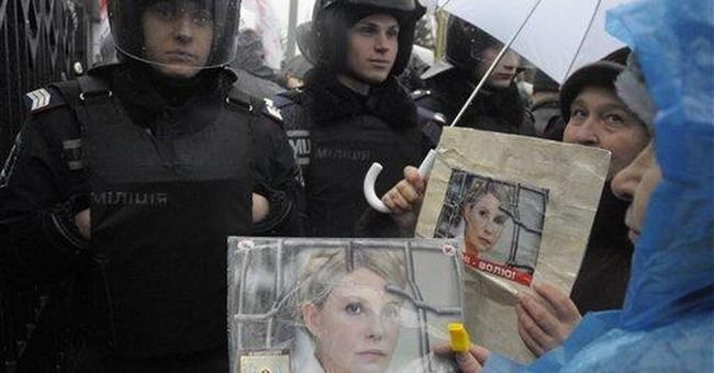 Ukraine president says he won't aid Tymoshenko