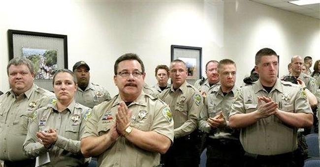 AZ sheriff's officers turn in federal credentials