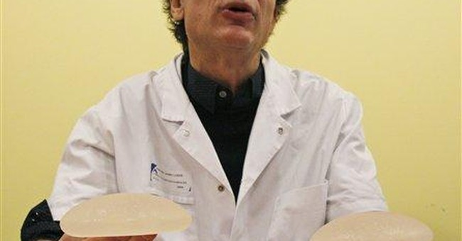 Italy seeking women with French breast implants
