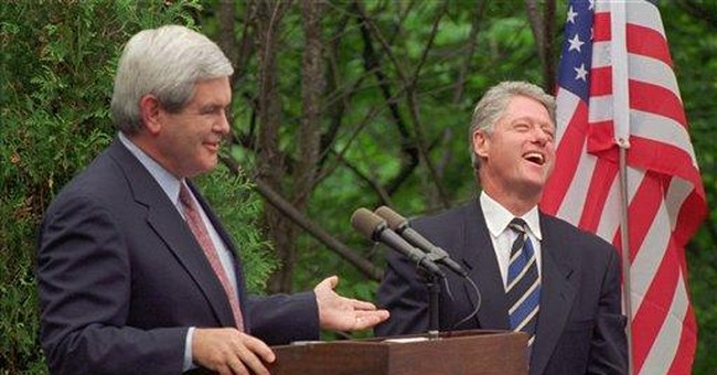 Gingrich, Clinton had stormy partnership