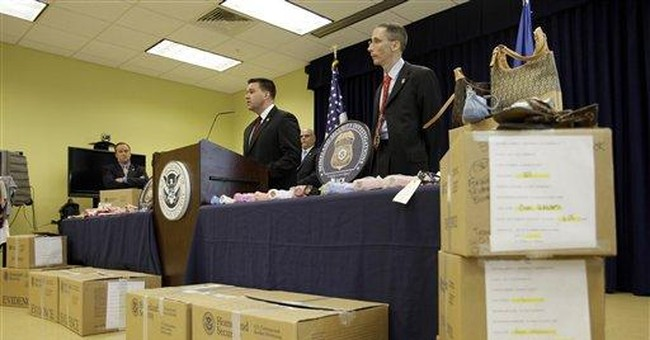 Federal roundup nabs $76M in counterfeit goods