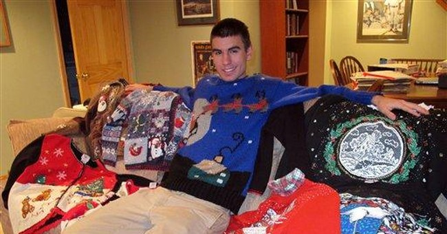 Ugly, gaudy Christmas sweaters all the rage