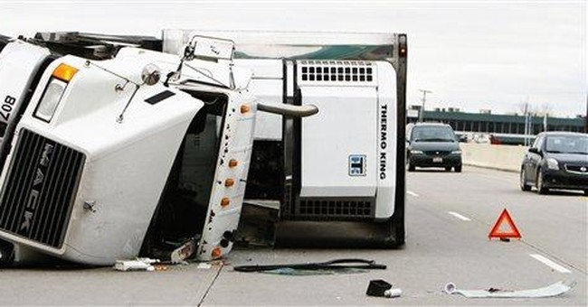 Rocky Road: Ice cream spill freezes Ind. traffic