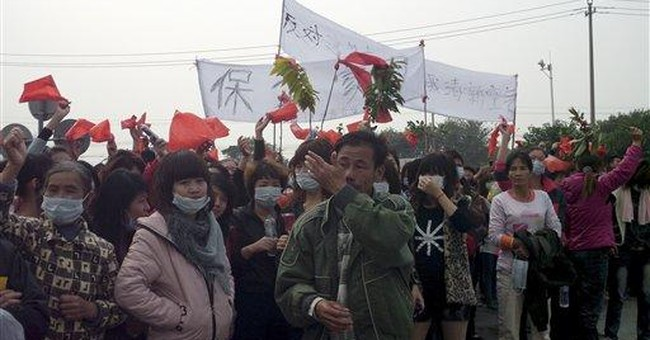 Chinese villagers demand release of detainees