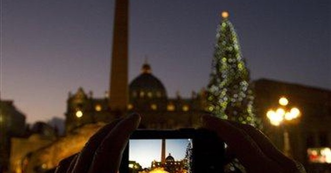 Pope laments Christmas consumerism, glitter