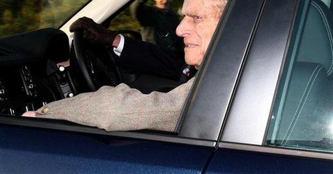 Britain's Prince Philip leaves hospital