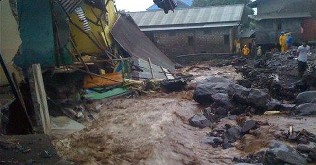 Mudflow kills 4 near Indonesian volcano, more flee