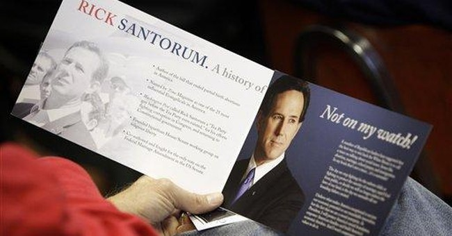 Santorum to Iowa diners: 'We've got momentum'