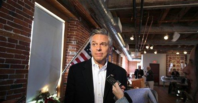 Alone in NH, Huntsman sees past Iowa