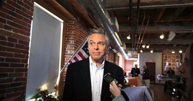 Alone in NH, Huntsman sees past Iowa