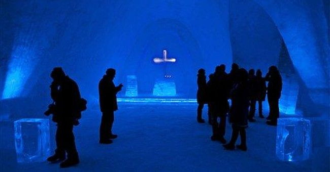 Snow church opens in Bavaria