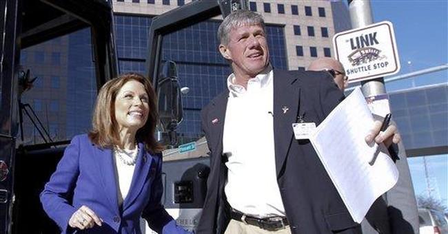 GOP's Bachmann limps to Iowa caucus finish line