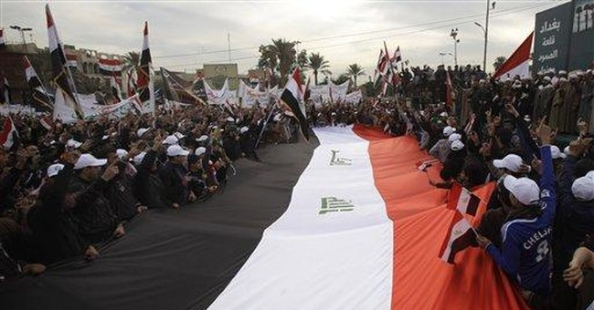 Hundreds of Iraqis cheer departure of US forces