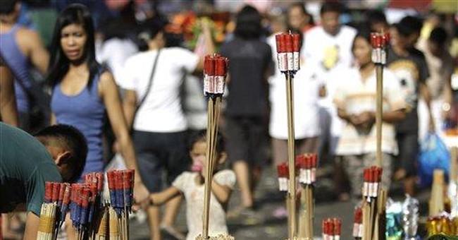 Philippine fireworks, revelry gunfire injure 200