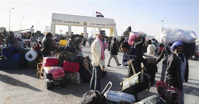 Egyptian workers flee Libya amid tales of chaos
