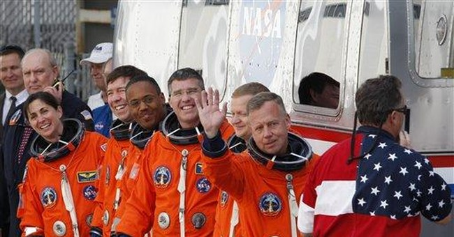 Discovery's last crew all experienced space fliers